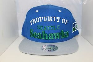 65f04330b NFL PROPERTY OF SEATTLE SEAHAWKS Snap Back Mitchell   Ness Snapback ...
