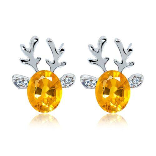 Charming Lovely Fashion Jewelry Stud Earrings Deer Shape Christmas Gifts