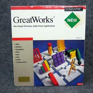 NOS-Sealed-Vintage-1991-Symantec-GreatWorks-Version-1-0-Software-Apple-Macintosh