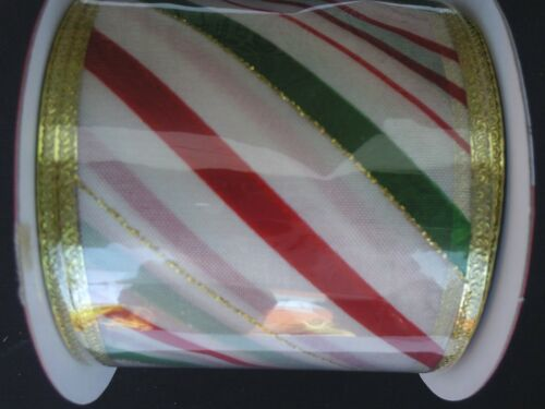 CHRISTMAS RIBBON WIRE EDGED 2.5 Inch X 3 Yards//Pk Ribbons  SELECT Design