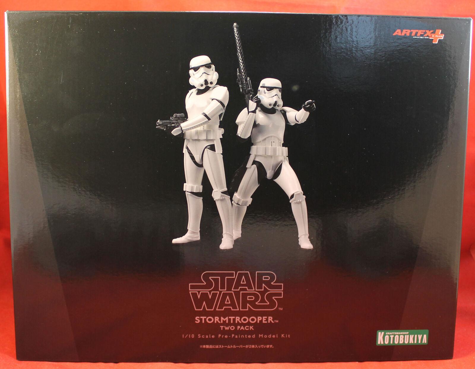Estrella Wars 1 10 Escala Modelo Kit Estatua-Stormtrooper Dos Pack