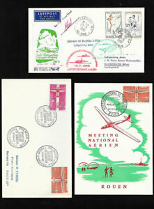 Poste Aerienne Airmail Covers Aviation Sportive Vol A Voile 1962 3 Lettres Ebay