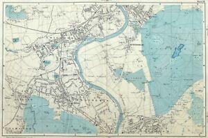 Richmond London Map.London 1895 Twickenham Teddington Richmond Hill