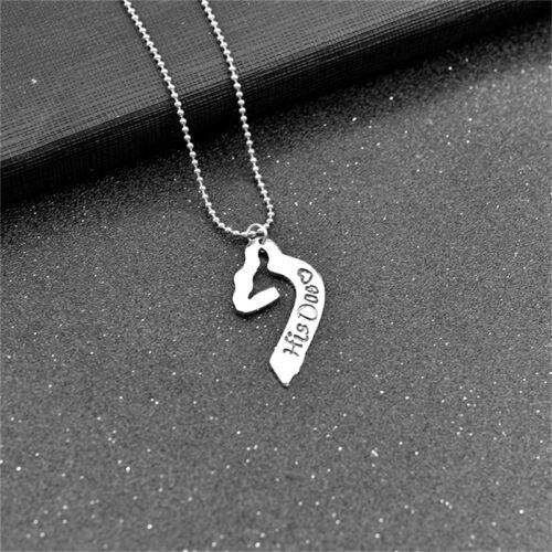 "Words /""Her Buck/&his Doe/"" Love Elk Chain Necklace for Couple Lovers Hot SaleWTUS"