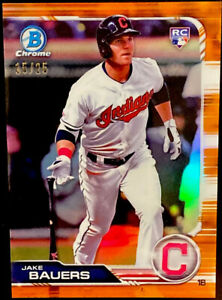 2019 Bowman Chrome Jake Bauers RC /25 ORANGE REFRACTOR Non Auto