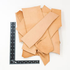 Heavyweight Vegetable Tan Remnants, 2 Pounds Cowhide Leather Scrap