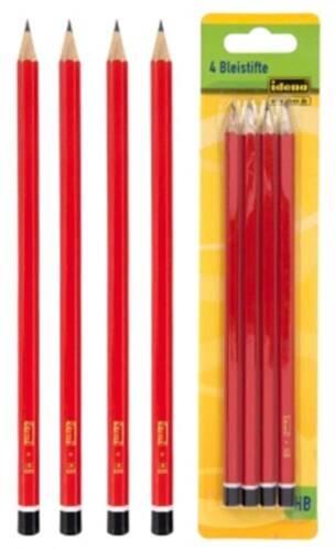 Idena 4 Bleistifte HB Bleistift Stifte Graphitstifte Mathematik Geometrie