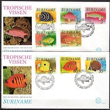 Suriname - 1976 Fish - Mi. 722-29 clean FDC's