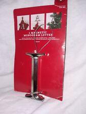 Letter L Magnetic Monogram 3-in-1 Stocking Holder Pin Ornament Target  Black