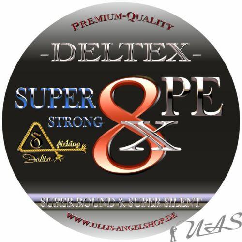 DELTEX Super Strong Camou 0.10mm 6.10kg 300M 8 fach Rund Geflochtene Angelschnur