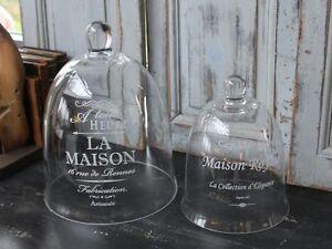 chic antique glasglocke mit glasteller glashaube tortenplatte vintage und shabby ebay. Black Bedroom Furniture Sets. Home Design Ideas