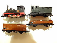 Schöner Zug Minitrix mit ~12914 Tenderlok BR 89-70 + 3 Wagen RAR Sammler Spur N