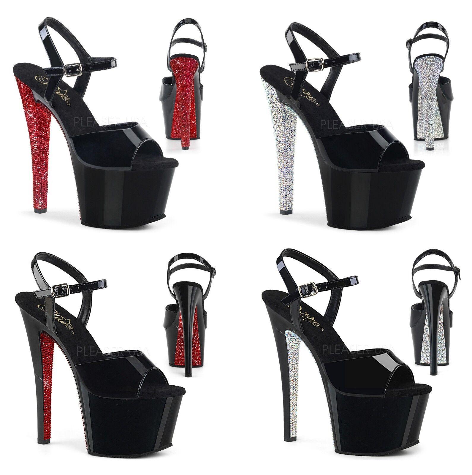 Pleaser SKY-309CRS SKY-309CHRS Exotic Dancing Platform Ankle Strap Strap Strap Sandal 3cc801