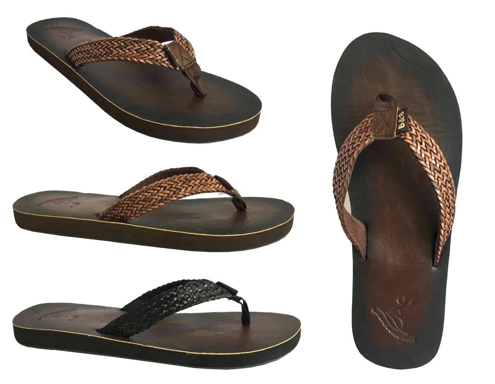 New  Distressed Women's Classic Braided Sandals Distressed  PU Beach Flip Flops SoCal--*619* 117e39