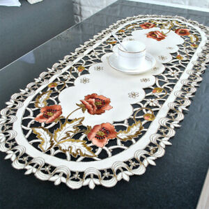 Vintage-Embroidered-Dining-Table-Runner-Oval-Tablecloth-Wedding-Party-Home-Decor
