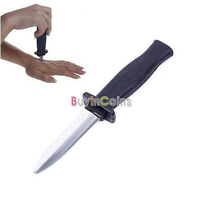 Popular Plastic Knife Retractable Scary Trick Toy Prank Props Dagger Party Cool