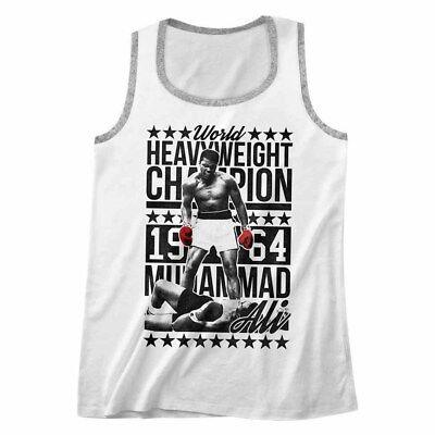 Muhammad Ali Heavyweight Champion 1964 Men/'s Tank Top Boxing Fighter Muscle Vest
