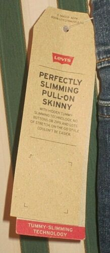 NWT Women/'s Levi/'s Perfectly Slimming Pull-On Skinny Jeans Assorted Sizes /& Colo
