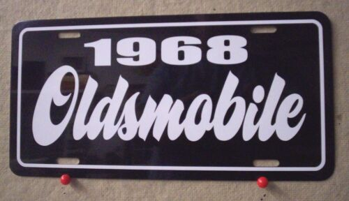 1968 Oldsmobile license plate tag 68 Olds 442 Cutlass Supreme Delta 88 Toronado