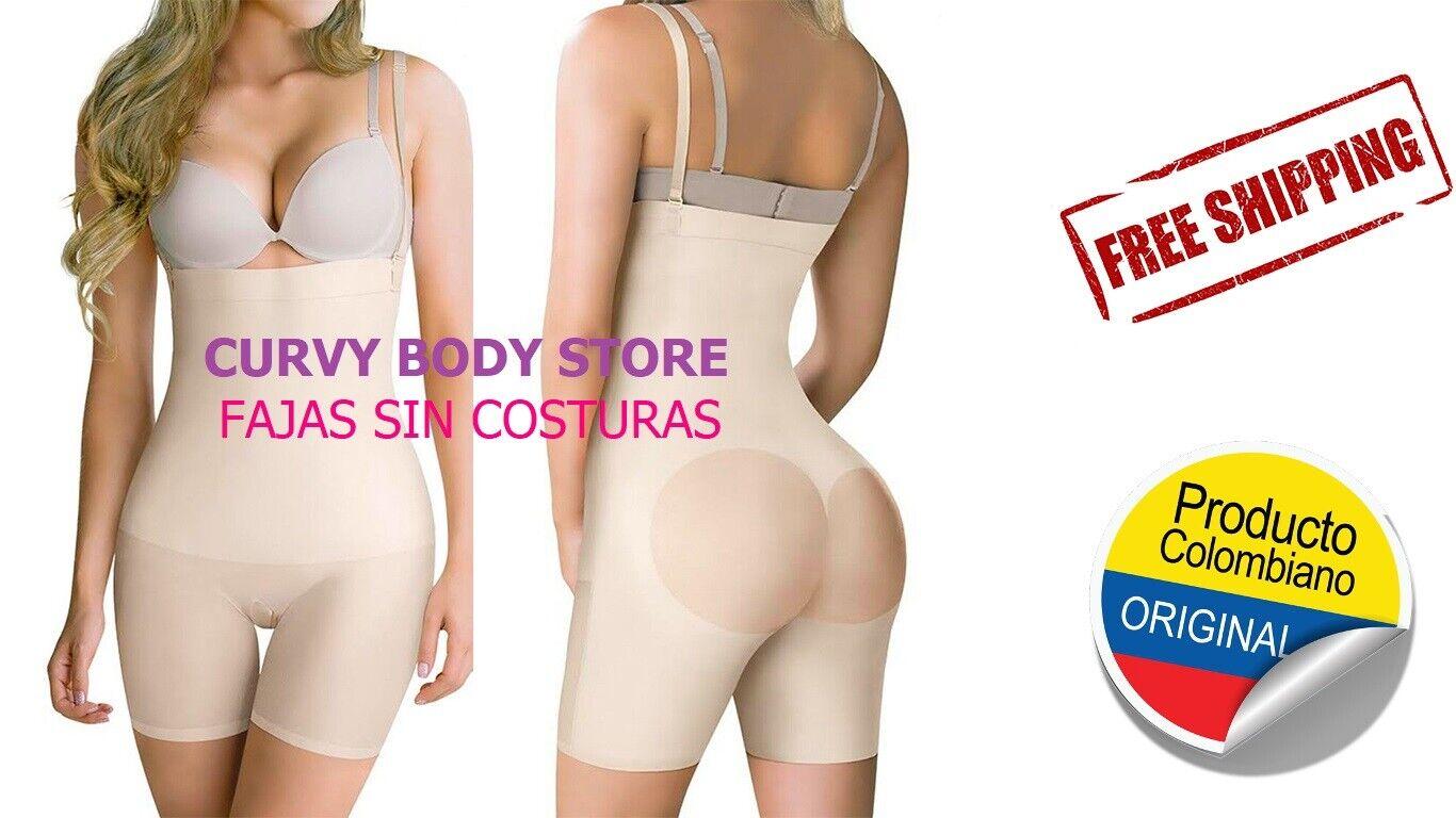 FAJA COLOMBIANA STRAPLESS SIN COSTURAS - FAJAS INVISIBLE PARA VESTIDOS LIG 644