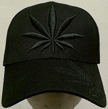 BLACK MARIJUANA 420 HIGH CANNABIS CHRONIC KUSH POT HEMP LEAF WEED PLANT CAP HAT