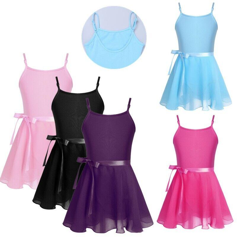 Kidsparadisy Girls Dance Leotard Gymnastic Ballet Tutu Skirt with Tulle Sleeveless Kids Mermaid Dress Costume