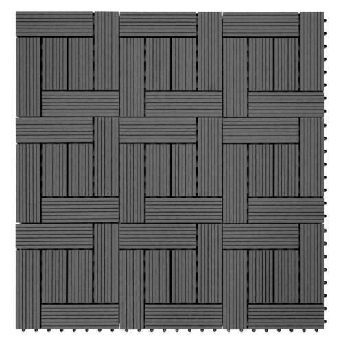 anthrazit versetzt 11 Stück je 30x30cm = 1qm WPC Holz-Fliese Sarth