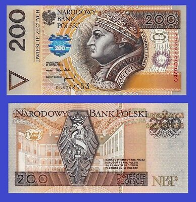 Poland 200 000 zloty 1989  UNC Reproductions