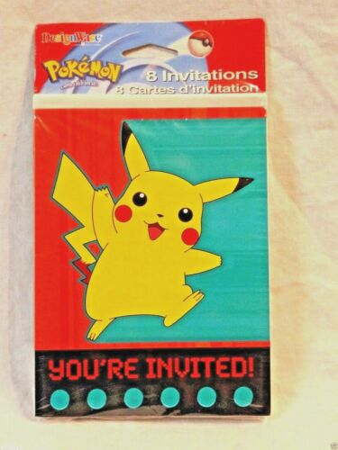 NEW IN PACKAGE 8-POKEMON INVITATIONS GOTTA CATCH THEM  ALL PARTY
