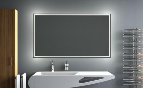 LED BAIN MIROIR de la salle avec éclairage sale fait sur mesure LEO