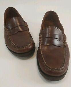 Orvis-Savana-Brown-Leather-SlipOn-Shoes-Moccasin-Penny-Loafer-Durable-Men-Sz-9-5