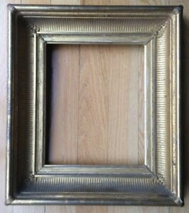 Antique-Carved-Wood-Gold-Picture-Frame-Fine-Detailing-Deep-Cove-Gilded
