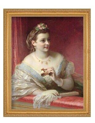 Victorian Trading Co Girl Brushing Golden Hair UnFramed Print