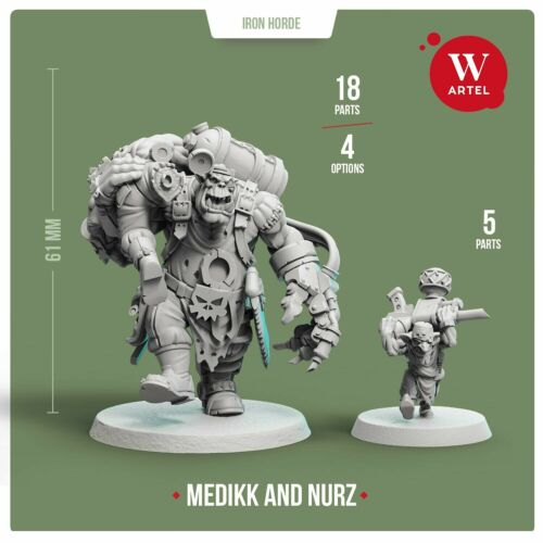 Ork Painboy Mad Dok Grotsnik with Nurz by Artel W Medikk of Iron Horde