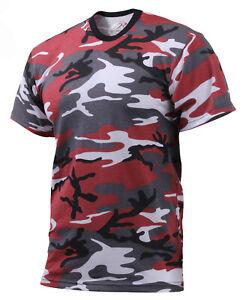 c0f6b9b0 Boys Red Camo T-shirt Kids Camouflage Tee Shirt Rothco 66700 | eBay