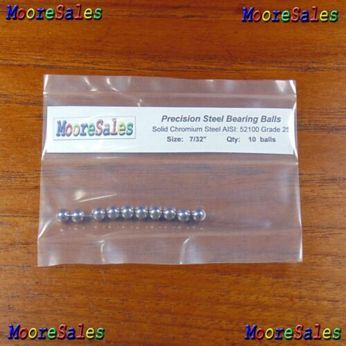 """0.21875 in // 5.55625 mm 10 Premium 7//32/"""" Solid Steel Ball Bearing Loose G25"""