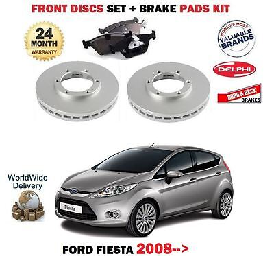 /> Delantero Discos De Freno Pastillas Set Kit Para Ford Fiesta VI 1.25 1.4 1.6 Ti TDCi 2009