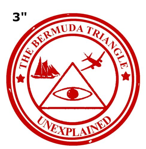 Bermuda Triangle Patch Unexplained Mysteries Cryptids Iron or Sew-on Embroidered