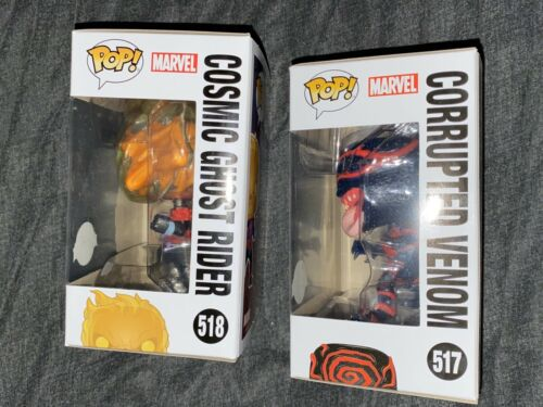 Funko Pop-Marvel-Cosmic Ghost Rider danneggiati Venom Glow Exclusives!!! RARA