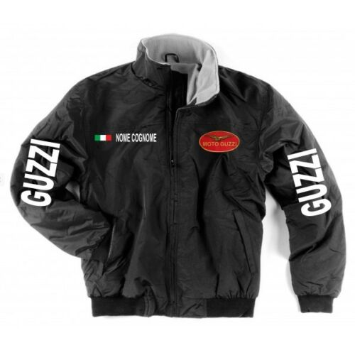 Jacket Jacket Moto Guzzi Black Inner Fleece Neck Warmer Patch Shirt Motor