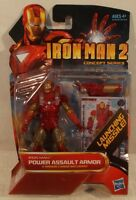 Marvel Universe 3.75 Iron Man 2 04 Power Assault Armor Hasbro (mint On Card)