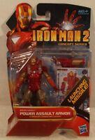 Marvel Universe 3.75 Iron Man 2 04 Power Assault Armor Hasbro (mint On Card)