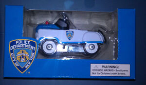 American-Hero-Die-Cast-1-10-Scale-NYPD-Police-Pedal-Car-Boys-amp-Girls