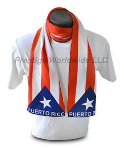 Puerto-Rican-Flag-Print-Scarf-NEW-One-Size-Fits-All-Rico-Gift-FREE-SHIPPING