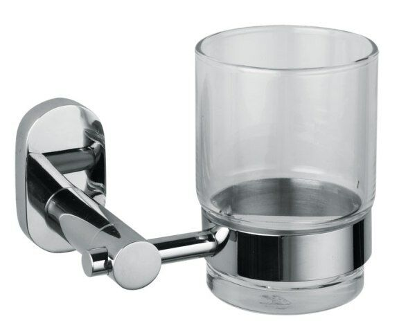 NEW LUXURY CHROME&GLASS BATHROOM ACCESSORY SET 1200 SERIES