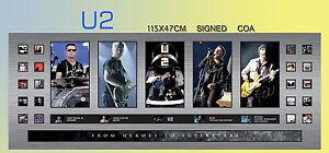 NEW-U2-TOUR-360-TOUR-MEMORABILIA-SIGNED-LARGE-PANORAMIC-FRAME-LIMITED-499-COA