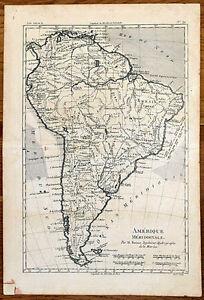 carte ancienne bonne antique map 1780 am rique m ridionale chili guyane br sil ebay. Black Bedroom Furniture Sets. Home Design Ideas