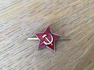Genuine-Russian-USSR-Soviet-Red-Army-Small-Star-Hat-Pin-Badge-Kokarda