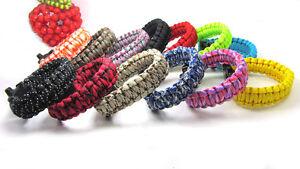 15pcs-Mixed-Paracord-Parachute-Rope-Bracelet-Wristband-Survival-Emergency