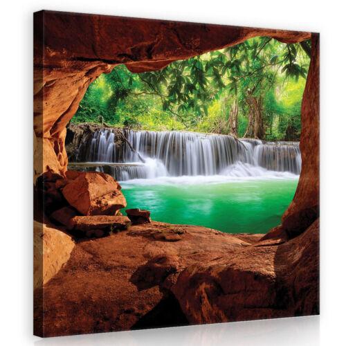 Canvas muro imagen imagen del lienzo imagen Naturaleza Cascada bosque perspectivas foto 3fx10258o5